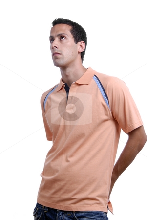 Casual stock photo, Casual young man portrait isolated on white background by Rui Vale de Sousa