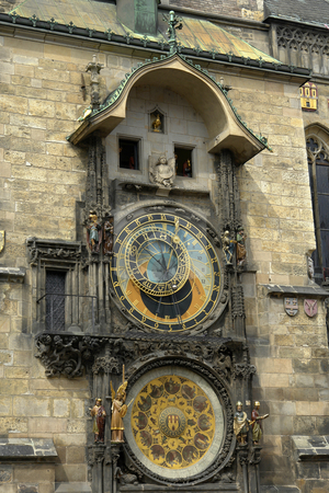 Clock stock photo, Famous prague ancient clock in the old town by Rui Vale de Sousa