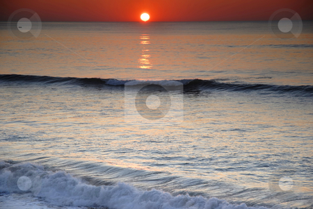Sunset stock photo, Orange sunset at the north portuguese coast by Rui Vale de Sousa