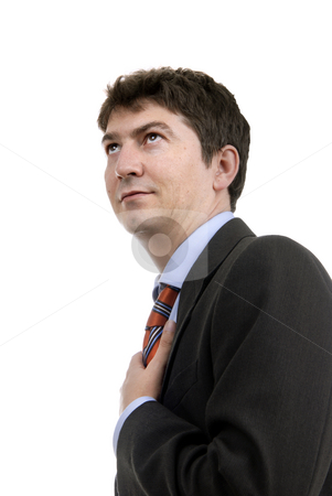 Future stock photo, Young business man portrait in white background by Rui Vale de Sousa