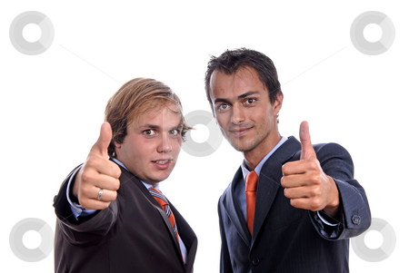 Businessmen stock photo, Two young business men isolated on white by Rui Vale de Sousa