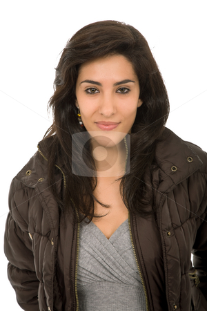 Young stock photo, Young beautiful woman portrait, isolated on white by Rui Vale de Sousa