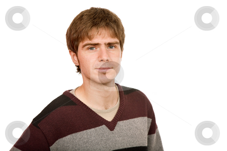 Young stock photo, Young man portrait, isolated on white background by Rui Vale de Sousa