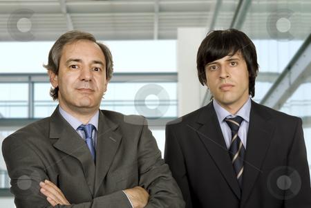 Office stock photo, Two young business men portrait, focus on the left man by Rui Vale de Sousa