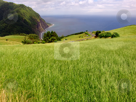 Coastal stock photo, Azores coastal fields in s miguel island by Rui Vale de Sousa