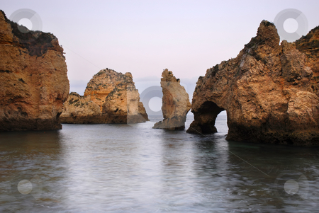 Algarve stock photo, Slow shutterspeed picture at the coast of portugal by Rui Vale de Sousa