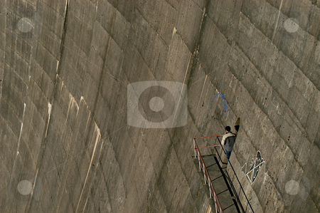 Wall stock photo, Man on the wall by Rui Vale de Sousa