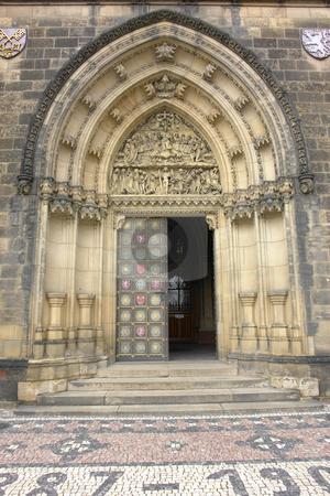 Entrance stock photo, Main door entrance of sao vito church in prague by Rui Vale de Sousa