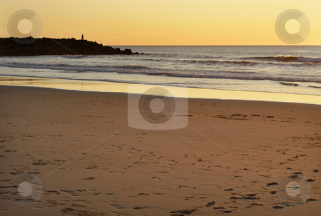 Beach stock photo, Sunset at the beach by Rui Vale de Sousa