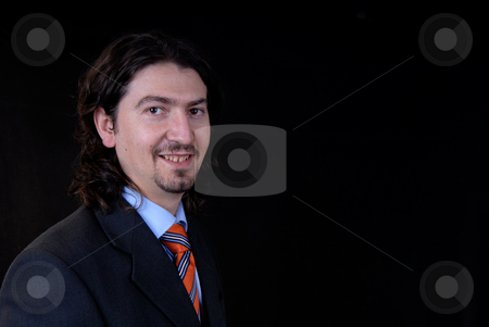 Man stock photo, Young business man portrait on white background by Rui Vale de Sousa