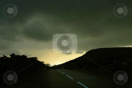 Road stock photo, Road in the mountains at sunset by Rui Vale de Sousa