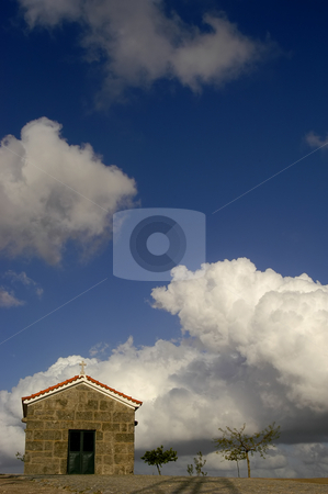 Church stock photo, Church in the top of the mountain by Rui Vale de Sousa