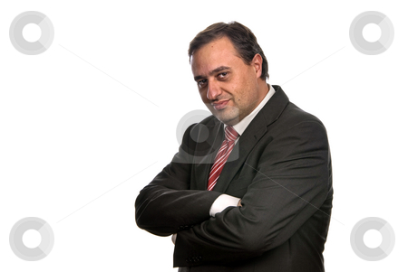 Stand stock photo, Business man isolated over a white background by Rui Vale de Sousa