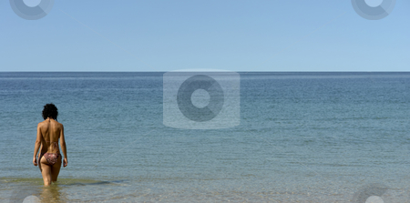 Girl stock photo, Woung woman in the water in spain by Rui Vale de Sousa
