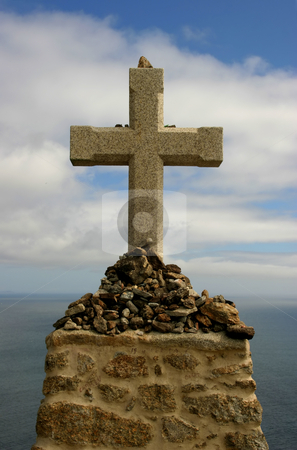 Cross stock photo, Rock cross in the coast of spain by Rui Vale de Sousa