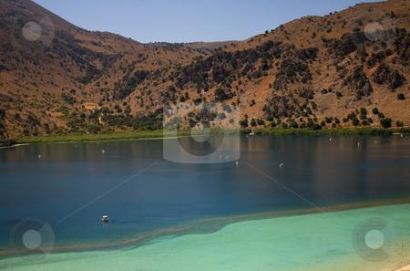 Lake stock photo, Famous kournas lake in the greek island of crete by Rui Vale de Sousa