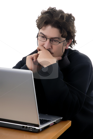 Work stock photo, Young man working with a personal computer by Rui Vale de Sousa