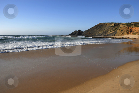 Beach stock photo, Big beach at algarve in the south of portugal by Rui Vale de Sousa