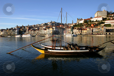 Boats stock photo, Boats at the river douro in oporto, portugal by Rui Vale de Sousa