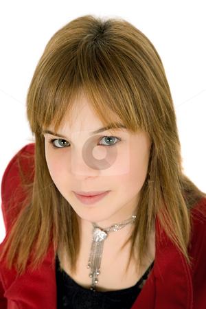 Woman stock photo, Young casual blonde woman close up portrait by Rui Vale de Sousa