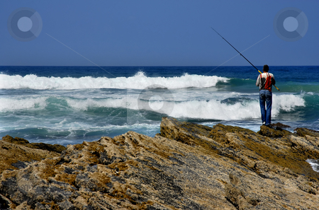 Fisherman stock photo, Fisherman at algarve in the south of portugal by Rui Vale de Sousa
