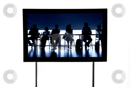 People stock photo, Business people at a meeting in a modern television, isolated by Rui Vale de Sousa