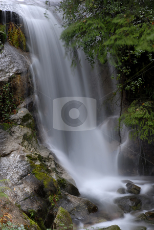 Falling stock photo, River waterfall in the portuguese national park by Rui Vale de Sousa