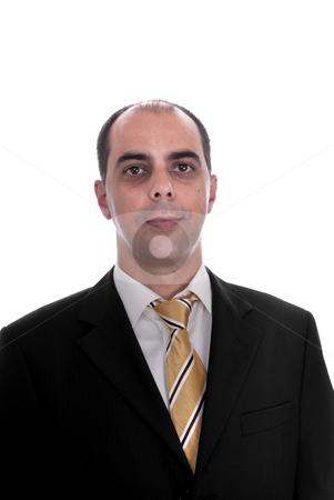 Portrait stock photo, Serious business man portrait on white background by Rui Vale de Sousa