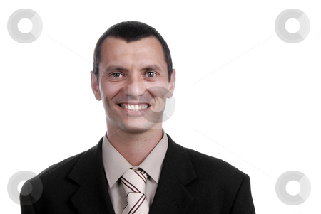 Young stock photo, Young business man portrait on white background by Rui Vale de Sousa