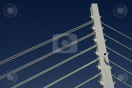 Lines stock photo, Detail of Vasco da Gama bridge by Rui Vale de Sousa