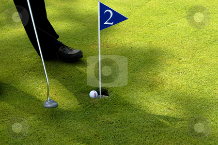 Golf stock photo, Man playing golf detail by Rui Vale de Sousa