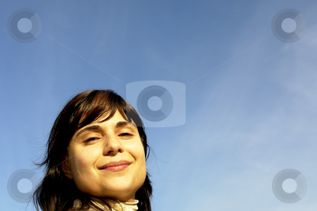 Women stock photo, Young woman close up portrait enjoying the sun by Rui Vale de Sousa