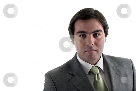 Businessman stock photo, Young business man in a white background by Rui Vale de Sousa