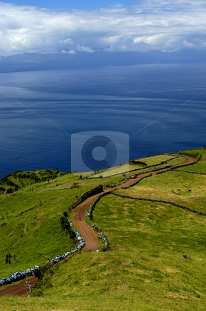 Road stock photo, Road in the fields of azores by Rui Vale de Sousa