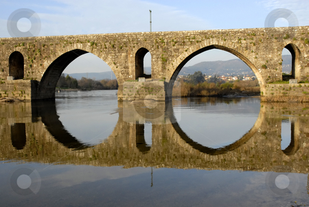 Arch stock photo, Ancient roman bridge detail in the north of portugal by Rui Vale de Sousa