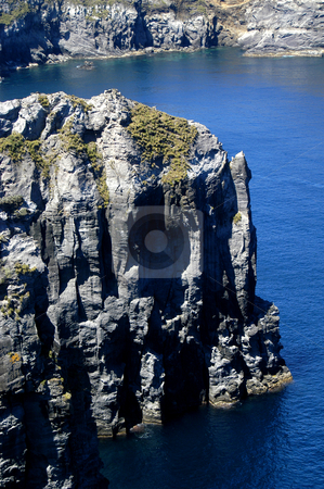 Calm stock photo, Calm blue waters of azores coastal rocks by Rui Vale de Sousa