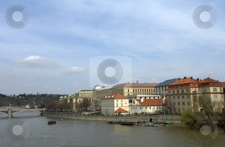 Prague stock photo, Prague old town, view of the river vltava by Rui Vale de Sousa