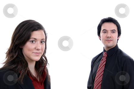 Couple stock photo, Business couple, isolated. focus on the woman by Rui Vale de Sousa