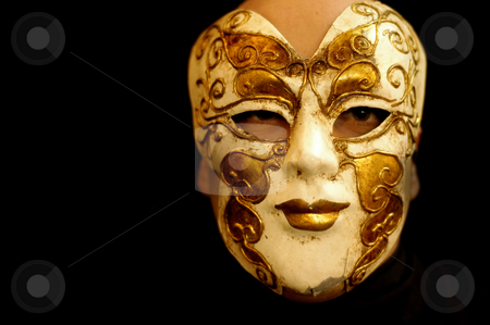 Mask stock photo, Girl mask by Rui Vale de Sousa