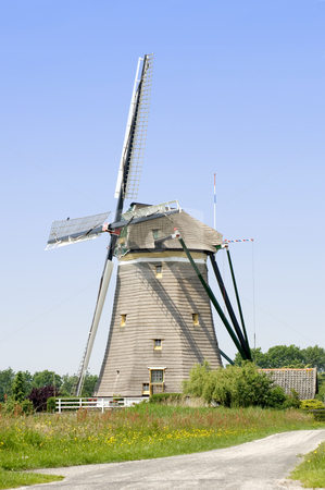 Windmill stock photo, A typical Dutch windmill in Leidschendam, the Netherlands by Corepics VOF