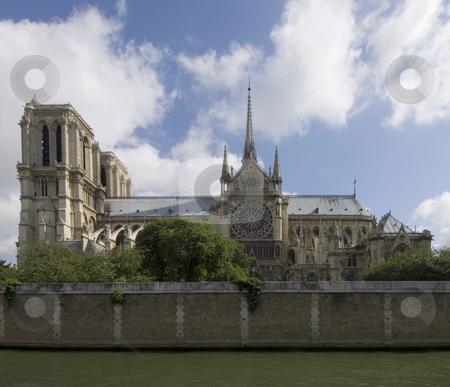 Notre Dame de Paris stock photo, A side view of the majestic Notre Dame, Paris, France by Corepics VOF