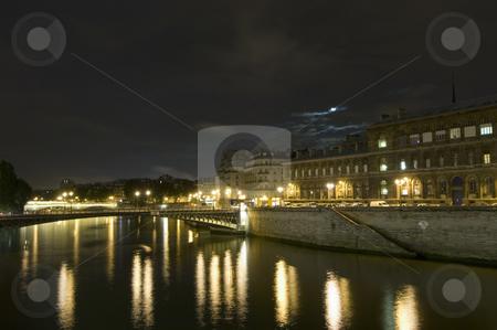 Seine Bridges stock photo, The bridges over the River Seine in Paris, connecting the 4th Arrondisement with the Ile the la Cite by Corepics VOF
