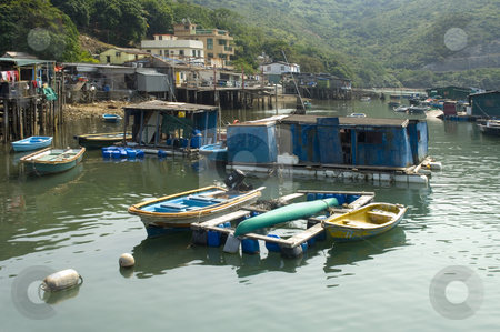 Hong Kong Life stock photo, A fishermans' village in the New Territories, Hong Kong, Asia by Corepics VOF