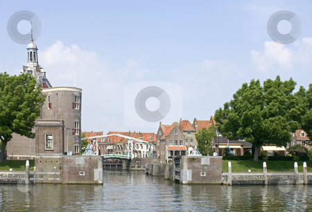 Enkhuizen stock photo, The old fishermans village of Enkhuizen, the Netherlands, with its fortified harbour entrance by Corepics VOF