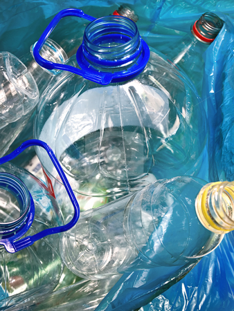 Recycling material stock photo, Plastic empty bottles in the bag for recycling by Vladimir Koletic