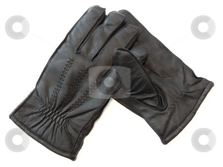 Man gloves stock photo, The pair of the man black gloves by Sergej Razvodovskij