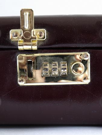 Combination Lock Open stock photo, Isolated view of a combination lock in an open position by Robert Gebbie