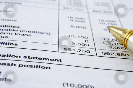 Financial Statement stock photo, Financial statement analysis: really a demanding work! by Gabriele Mesaglio