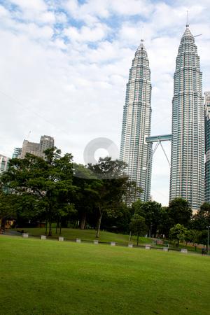 Petronas Twin Towers Kuala Lumpur  stock photo, Petronas twin towers in Kuala Lumpur, Malaysia by Hieng Ling Tie