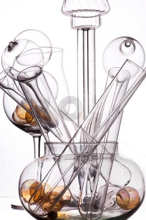 Glass art stock photo, Still life of glas in studio by Dirk Ercken